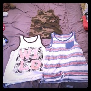Lot of 3 boys tank top size 8